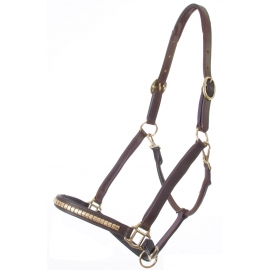 Clinchered Leather Halter